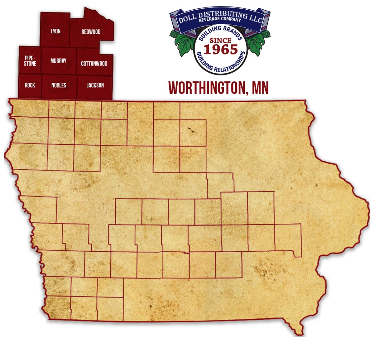 Worthington, Minnesota, Iowa
